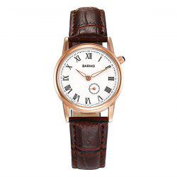 Vintage PU Leather Roman Numerals Watch