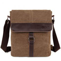 Buckle Strap Canvas Flap Side Bag
