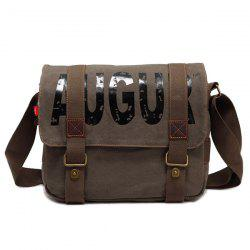 Graphic Print Straps Messenger Bag