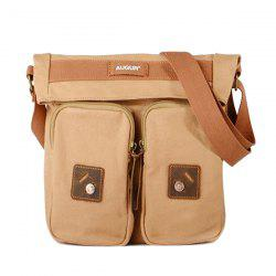 Fold Over Canvas Messenger Bag