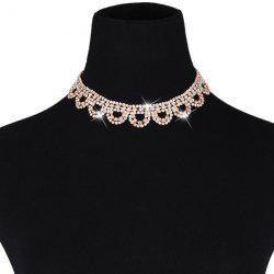 Lacework Rhinestone Hollow Out Necklace Set