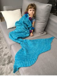 Pineapple Crochet Mermaid Blanket Throw with Pom Ball For Kids