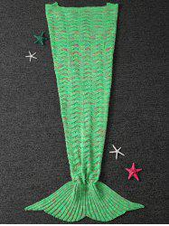 Wave Striped Hollow Out Crochet Yarn Mermaid Blanket Throw