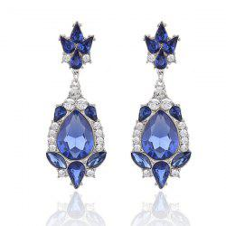 Rhinestones Waterdrop Inlay Pendant Earrings