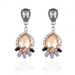 Rhinestone Inlay Waterdrop Drop Earrings