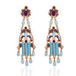 Beaded Hollow Out Chandelier Earrings