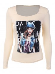 Long Sleeve Graphic Front Tee -