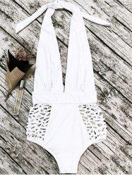 Cut Out High Waisted Plunge Swimsuit