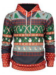 Christmas Graphic Print Pullover Hoodie -