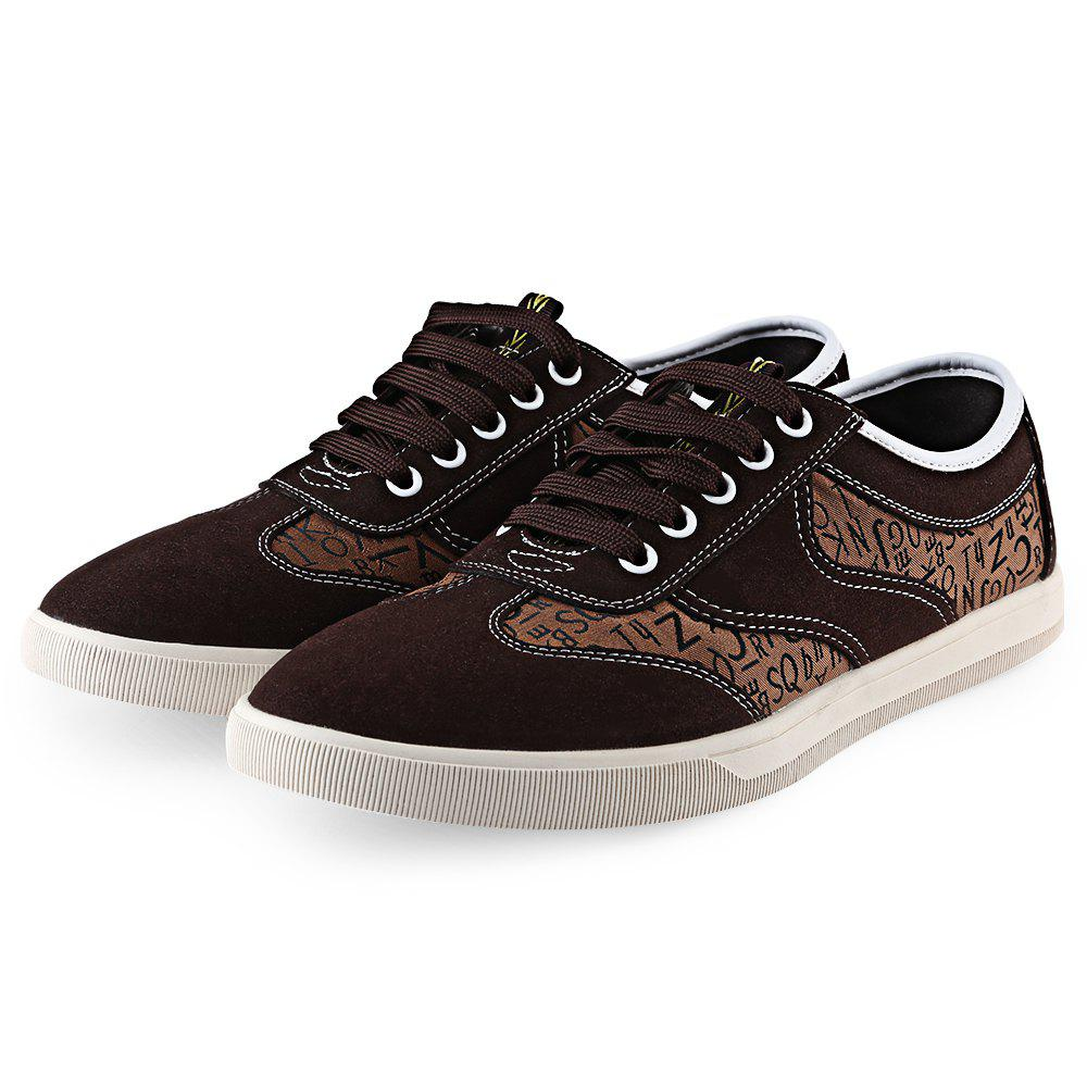 Latest HLA Letter Print Lace Up Nubuck Casual Shoes for Men