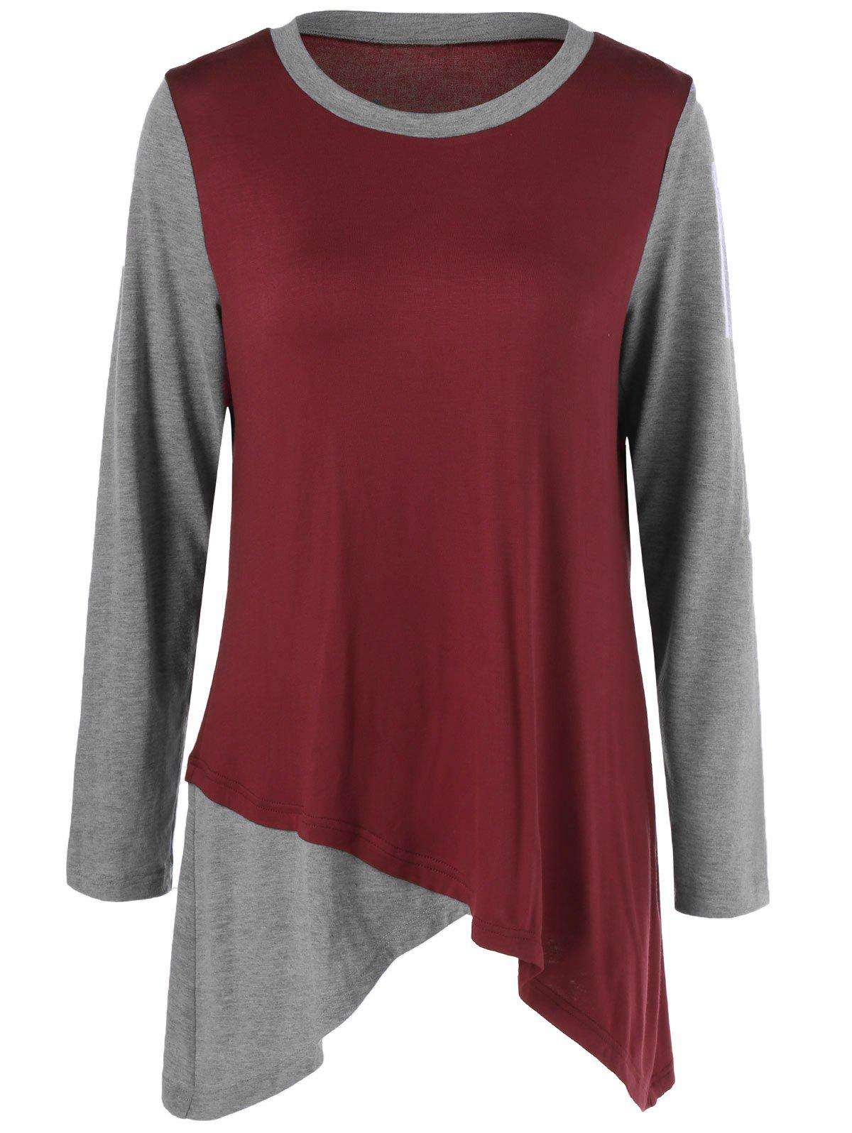 Outfit Asymmetric Two Tone Tunic T-Shirt