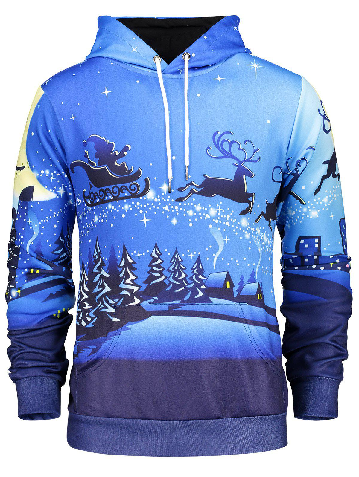 Store Long Sleeve Pocket Front Christmas Hoodie