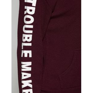 Trouble Maker Graphic Star Print Hoodie -