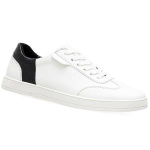 Lace Up Faux Leather Casual Shoes - White - 41