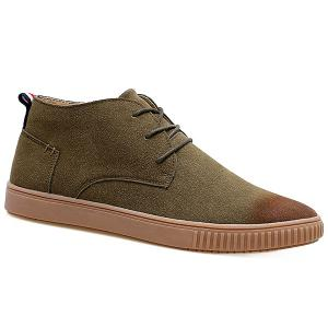 Tie Up High Top Suede Casual Shoes