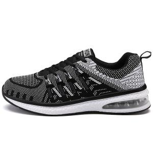 Colour Block Breathable Tie Up Athletic Shoes -