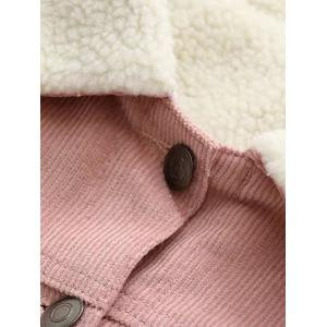 Button Up Fleece Lined Corduroy Jacket -
