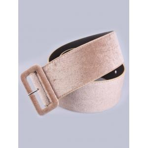 Pin Buckle Velvet Waist Belt