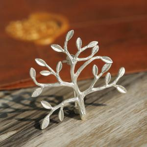 Tree Branch Leaves Brooch