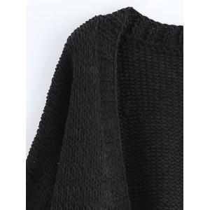 Open Front Pockets Ribbed Cardigan -