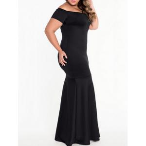 Plus Size Off Shoulder Mermaid Engagement Party Dress -