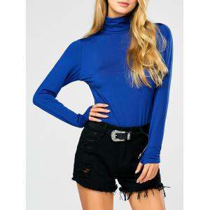 Fitted Long Sleeve Turtleneck Bodysuit