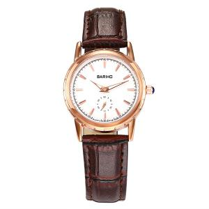 Vintage Artificial Leather Watch - Brown