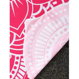 Contrast Trim Mandala Flower Shape Beach Throw -