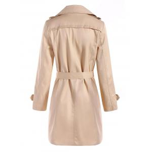 Belted Double Breasted Trench Coat with Pockets -