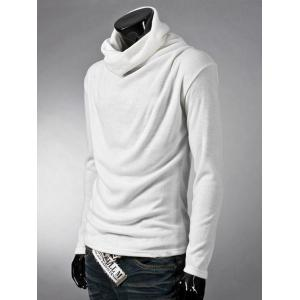 Brief Style High Neck Long Sleeve T-Shirt -