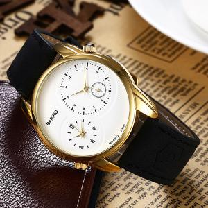 Montre Quartz Vintage Faux Leather - Or
