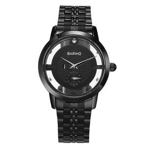 Stainless Steel Vintage Quartz Watch - Black