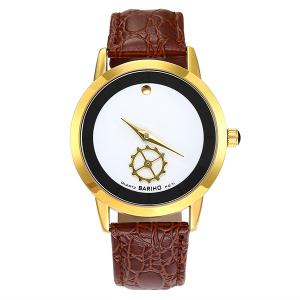 Faux Leather Vintage Analog Watch