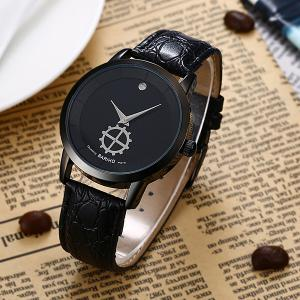 Faux Leather Vintage Analog Watch -