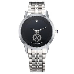 Stainless Steel Vintage Analog Quartz Watch - Black