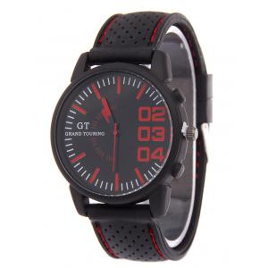 Outdoor Rubber Analog Watch - Red - 42
