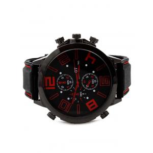 Outdoor Rubber Analog Number Watch -