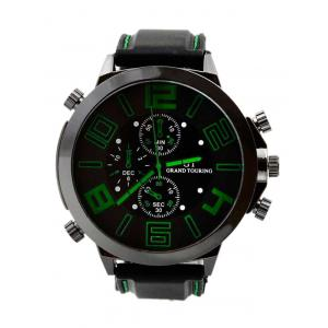 Outdoor Rubber Analog Number Watch - Green - 43