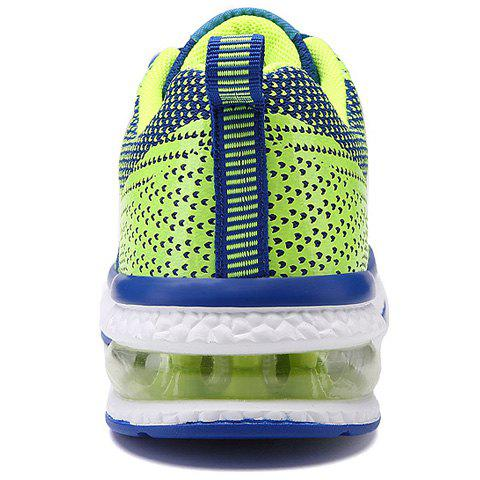 Chic Lace Up Color Block Breathable Athletic Shoes - 38 BLUE Mobile