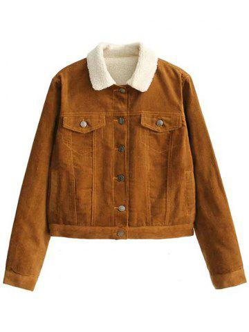 Latest Button Up Fleece Lined Corduroy Jacket