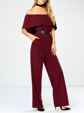 Unique Off The Shoulder Jumpsuit with Pockets