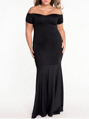 Hot Plus Size Off Shoulder Mermaid Engagement Party Dress