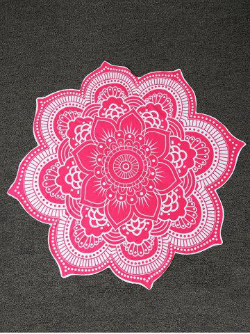 Latest Contrast Trim Mandala Flower Shape Beach Throw