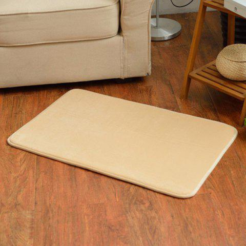 Cheap Candy Color Absorbent Antislip Bathroom Entrance Carpet - LIGHT BROWN  Mobile