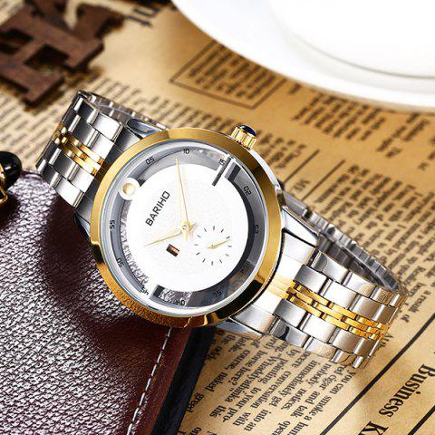 Affordable Stainless Steel Vintage Quartz Watch - GOLDEN  Mobile
