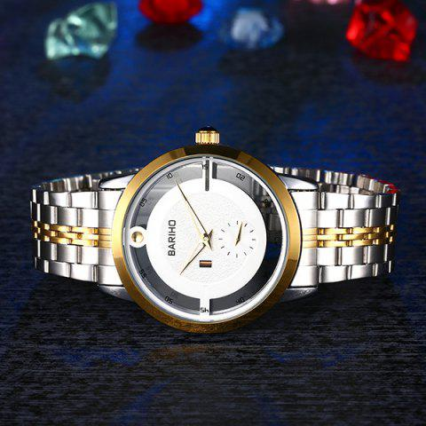 Latest Stainless Steel Vintage Quartz Watch - GOLDEN  Mobile