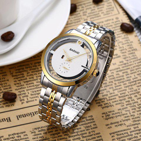 Fancy Stainless Steel Vintage Quartz Watch - GOLDEN  Mobile