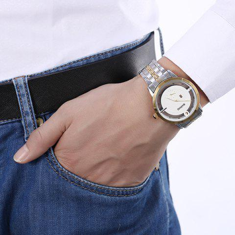 Hot Stainless Steel Vintage Quartz Watch - GOLDEN  Mobile