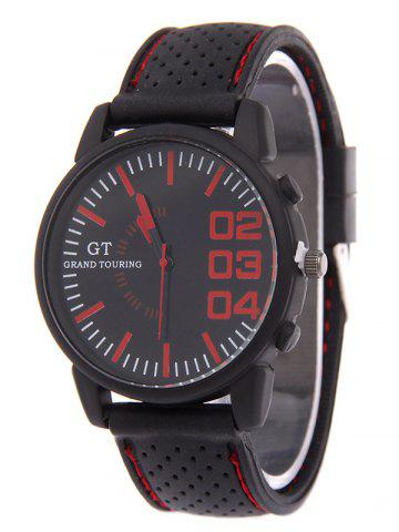 Latest Outdoor Rubber Analog Watch RED