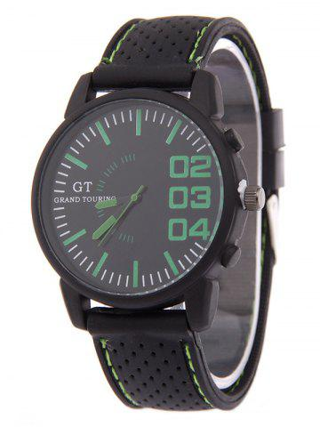 Affordable Outdoor Rubber Analog Watch GREEN